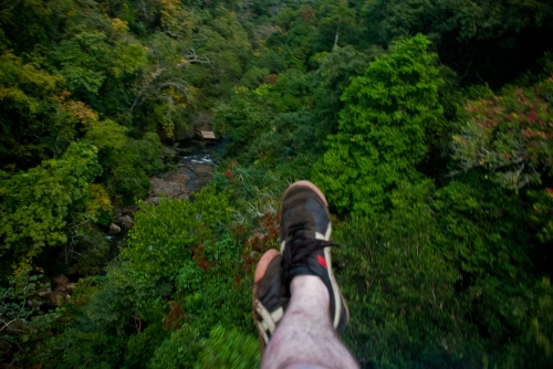 The view from zip-lining near Montezuma.